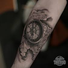 tattoo compass realistic tattoo custom tattoo antalya