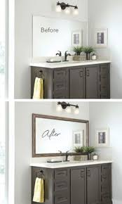 How To Frame A Bathroom Mirror How To Build A Wood Frame Around A Bathroom Mirror Bathroom