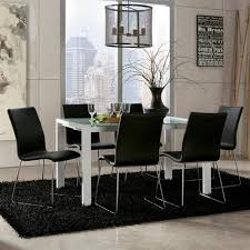 Ashley Furniture Martina Piece Modern Glass Top Extension Table - Ashley furniture dining table black
