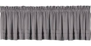 gray u0026 silver valances u0026 kitchen curtains you u0027ll love wayfair