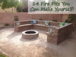 Make Your Own Firepit Build Your Own Backyard Pit Engaging Small Outdoor Patio With
