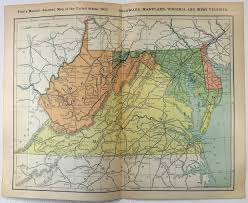 Map Of Maryland And Virginia by Original 1902 Dated Railroad Map Of Delaware Maryland Virginia