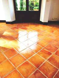 spanish terracotta floor cleaned and sealed in mallorca tile