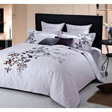 Purple And White Duvet Covers King Size Percale Duvet Cover Bedding Set White Balmoral White