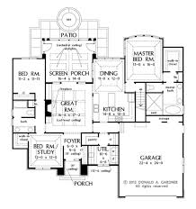 House Plans With Screened Porch European Style House Plan 3 Beds 2 00 Baths 1828 Sq Ft Plan 929 28