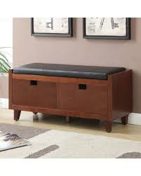 hallway storage bench slash prices on baron hallway storage bench with faux leather