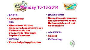 2 nd quarter 2014 astronomy physics monday topic astronomy do