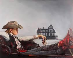 artist felice house reimagines scenes from classic western films