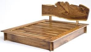 rustic bedroom furniture log bed mission beds burl wood