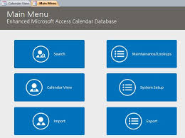 northwind database with enhanced calendar scheduling database template