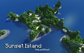 Island Map Generator Sunset Island 1 3 2 Ready By Thelastghost Minecraft Project