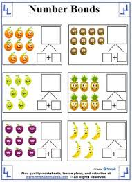fruit number bonds worksheets number bonds pinterest number