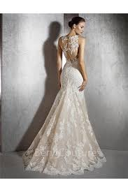 illusion neckline wedding dress mermaid illusion neckline tulle lace applique wedding dress with