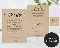 rustic wedding invitation template wedding invitation templates