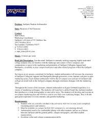 Sample Brand Ambassador Resume Brand Ambassador Job Description Awesome Resumecv And Cover