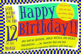 Birthday Day Cards Numerology Reading Free Birthday Card 12 Worldnumerology Com