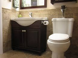 small half bathroom ideas spectacular espresso wooden single washbasin vanity and white