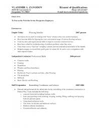Software Testing Resume Samples Cover Letter Contractor Resume Sample Overseas Security Contractor