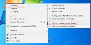 affichage bureau windows 7 windows 7 comment masquer les icônes du bureau 1jour1astuce