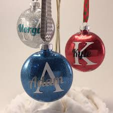 glittering initial ornaments crafthubs