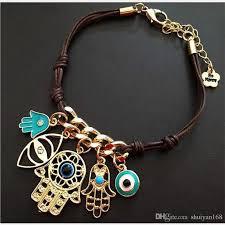 fashion evil eye bracelet images Fashion evil eye hamsa gold plated leather cord bracelets kabbalah jpg