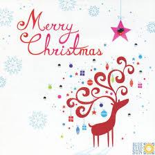 christmas reindeer christmas card by blue eyed sun snowflakes