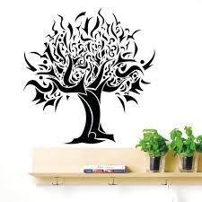 Tree Wall Art Decals Vinyl Sticker Silhouette Tree Wall Decal Wall Ideas Vinyl Wall Art Quotes Family
