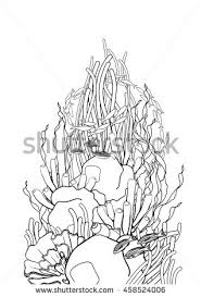 sea plants coloring pages black coral from plant sea stock images royalty free images