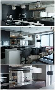 chelsea penthouse kitchen design rich dark wood cabinets with
