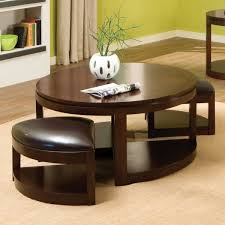 round coffee table with seats pull out beautiful ottoman sets