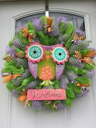 793 best owl wreaths images on owl wreaths