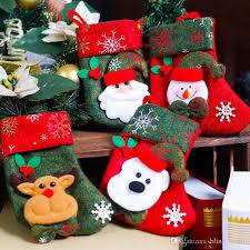 decorations fashion retro santa socks gift
