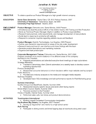 Best Product Manager Resume Example Livecareer by Product Manager Resume Objective The Letter Sample