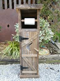 Wooden Toilet Paper Holder Outhouse Toilet Paper Holder