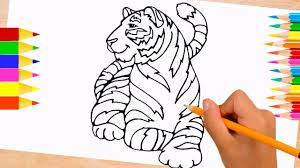 daniel tiger coloring pages for kids color tiger to learn colors