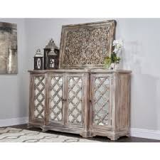 Mirrored Sideboards And Buffets by Amri Reclaimed Wood Mirrored 79 Inch Sideboard By Kosas Home