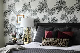 Bedroom With Accent Wall by Master Bedroom Accent Wall With Wallpaper This Is Our Bliss