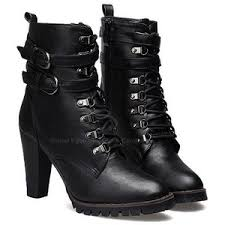 buy combat boots womens casual dashing s combat boots with solid color lace up