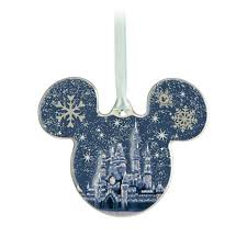 your wdw store disney disc ornament mickey icon castle