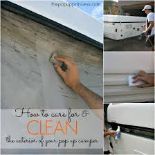 Best Way To Clean Rv Awning How To Clean U0026 Care For Your Pop Up Camper Exterior The Pop Up