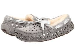 ugg womens dakota slippers sale lyst ugg dakota flora perf in gray