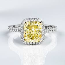 fancy yellow diamond engagement rings fancy yellow diamond ring radiant 3 01 carat vvs2 naturally