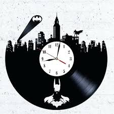 cool wall clock cool wall clocks batman design vinyl record wall clock home art