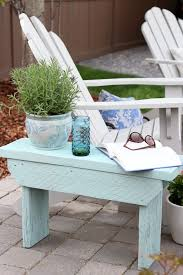 Wood Outdoor Bench Distressed Wood Outdoor Side Table Satori Design For Living