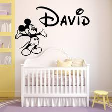 Custom Wall Decals For Nursery Personalized Name Walt Mickey Mouse Custom Wall Decal Vinyl