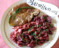 cuisiner des betteraves rouges poêlée de betteraves aux oignons recette de poêlée de betteraves