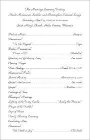 Traditional Wedding Program 4 Best Images Of Wedding Program Examples Wedding Ceremony