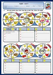 english worksheet food wordsearch health and fitness