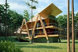 energy efficient house design energy efficient grasshopper shaped house