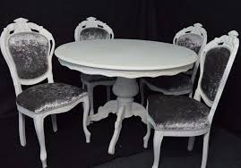 shabby chic round dining table shabby chic french louis style round dining table 4 louis chairs